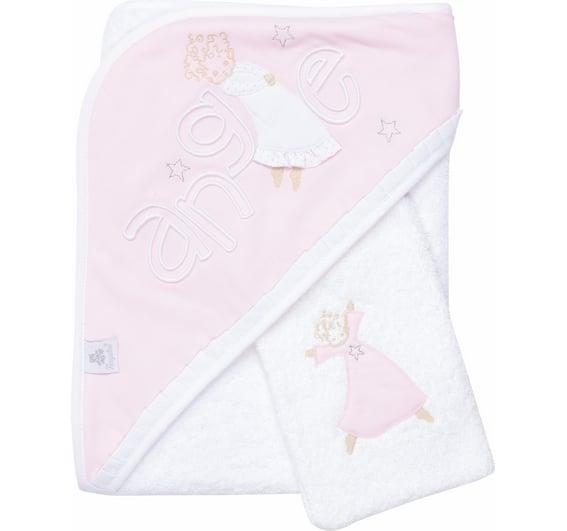 sortie de bain ange rose