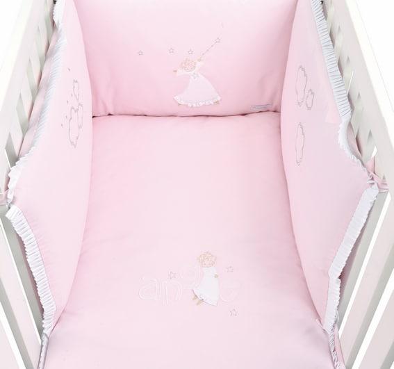 tour de lit ange rose