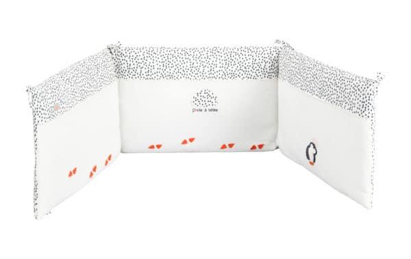 tour de lit pingouin blanc
