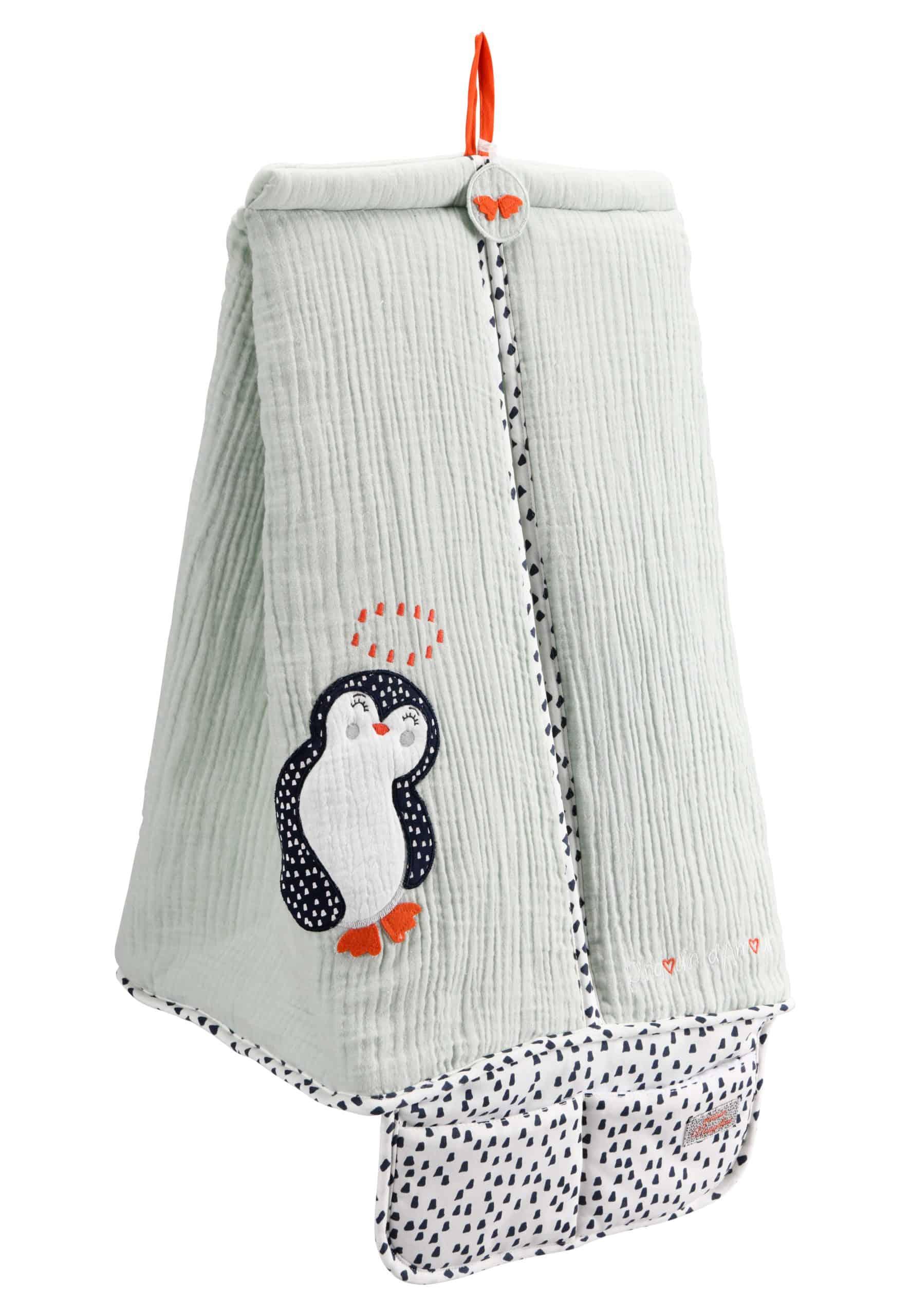 porte couches pingouin vert