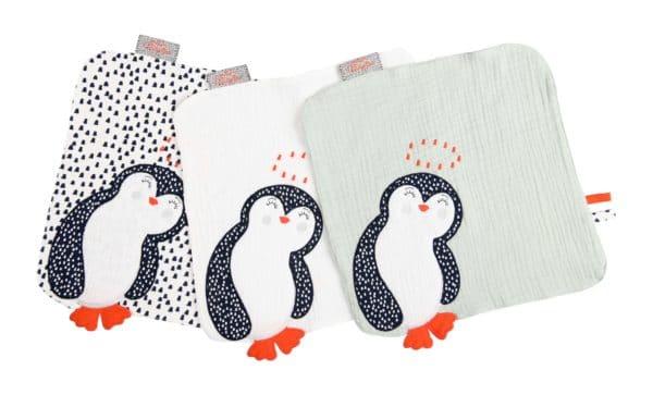 Doudou Pingouin Blanc 1