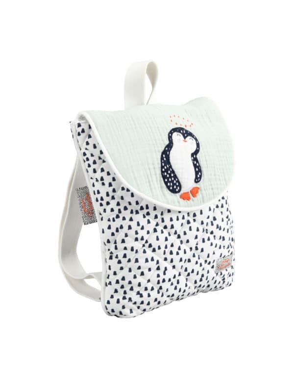 sac à dos pingouin vert