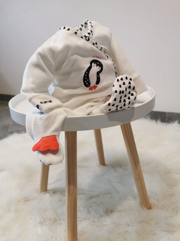 Pyjama Pingouin Blanc 1