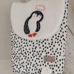 sac à dos pingouin blanc