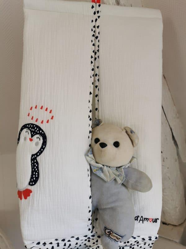 Porte Couches pingouin Blanc 3