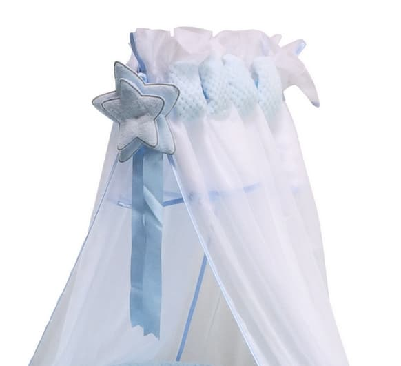 voile de lit beryl bleu