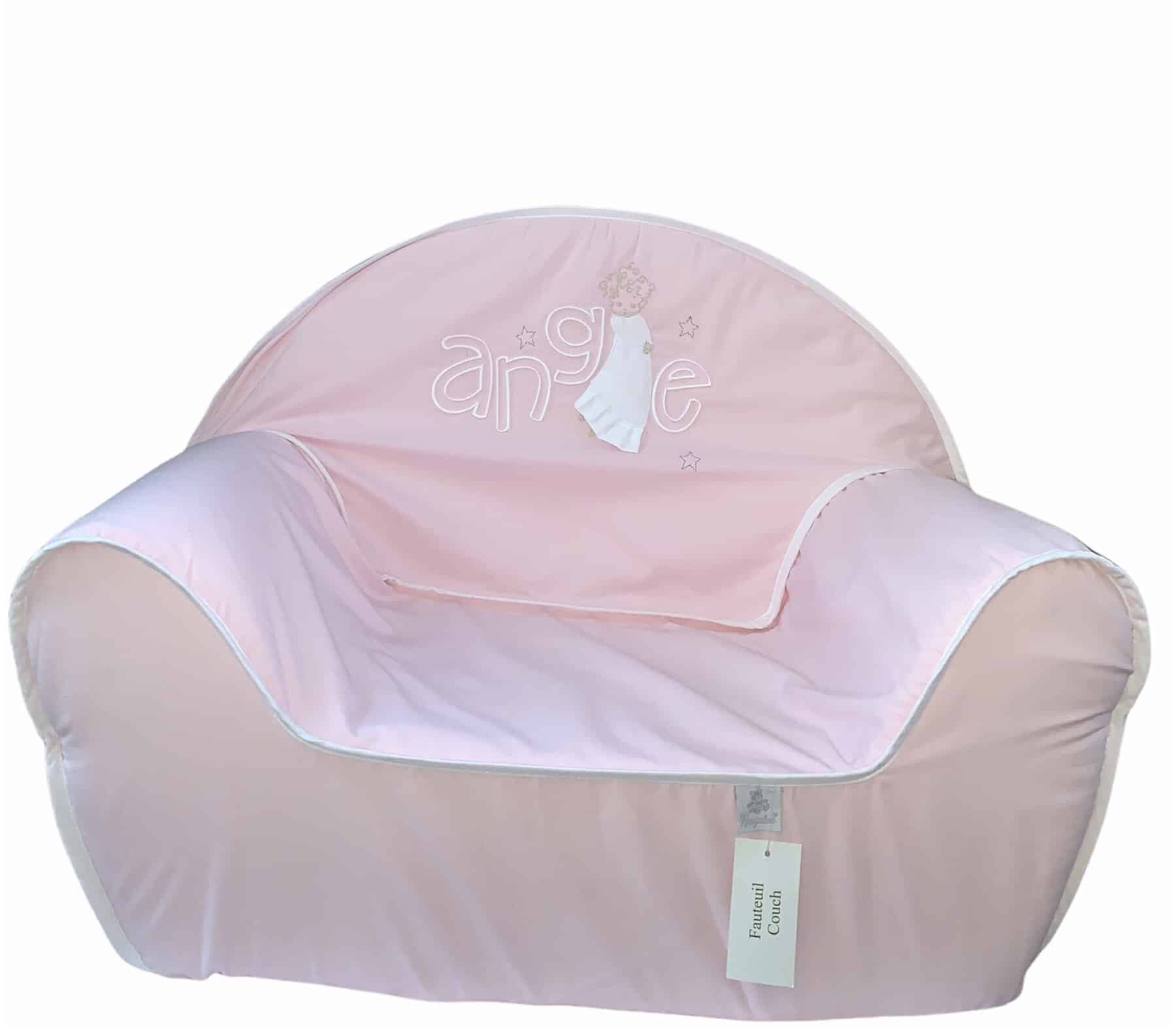 Fauteuil Ange rose 1