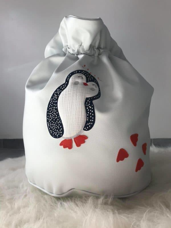sac à linges pingouin