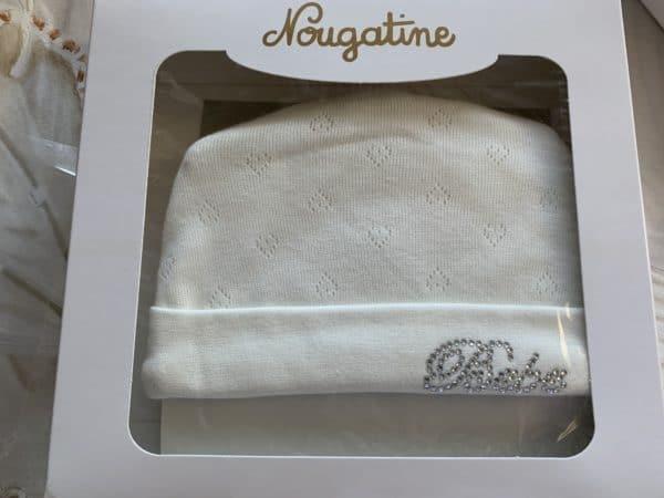 bonnet & moufles blanche