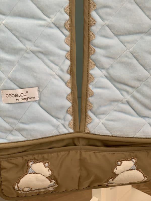 Porte Couches Pompon Bleu 1