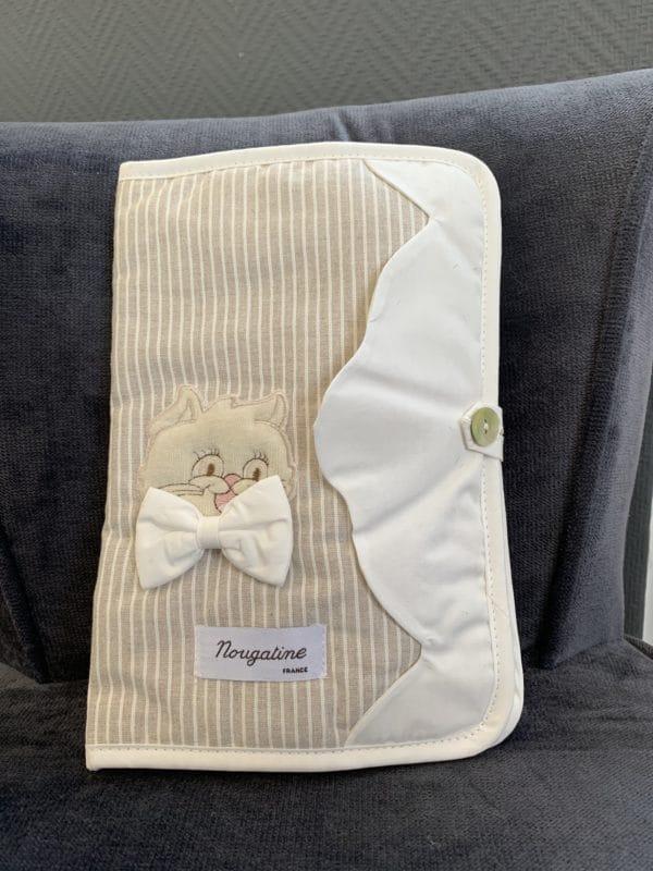Carnet de santé chat noeud blanc