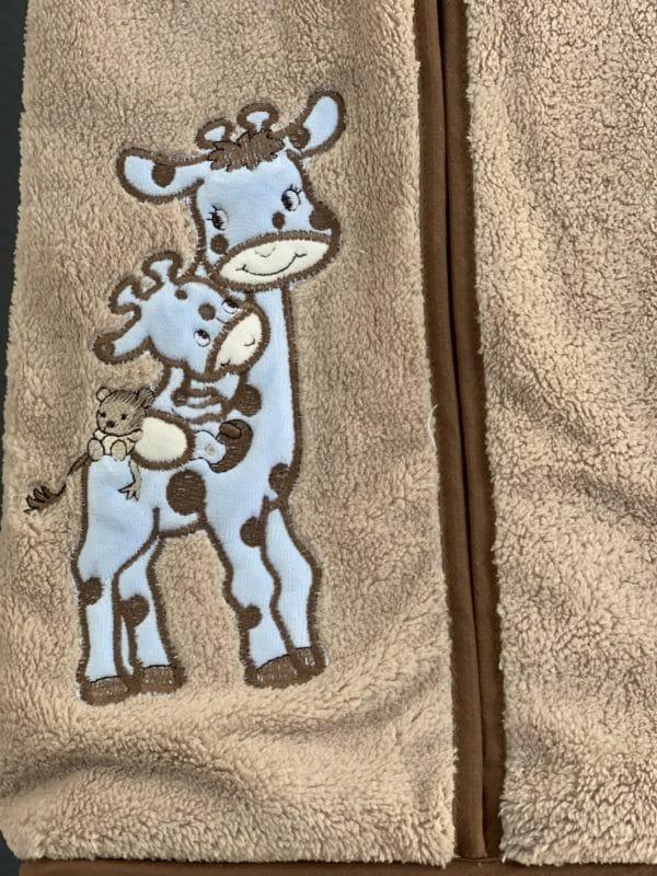 Porte Couches Éponge Girafe Bleu 1