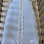 Gigoteuse 90cm bleu dentelle