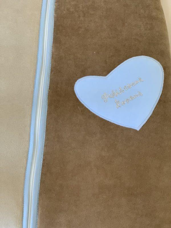 Gigoteuse 70cm Petit Cœur Bleu 3
