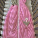 gigoteuse 90cm autruche rose