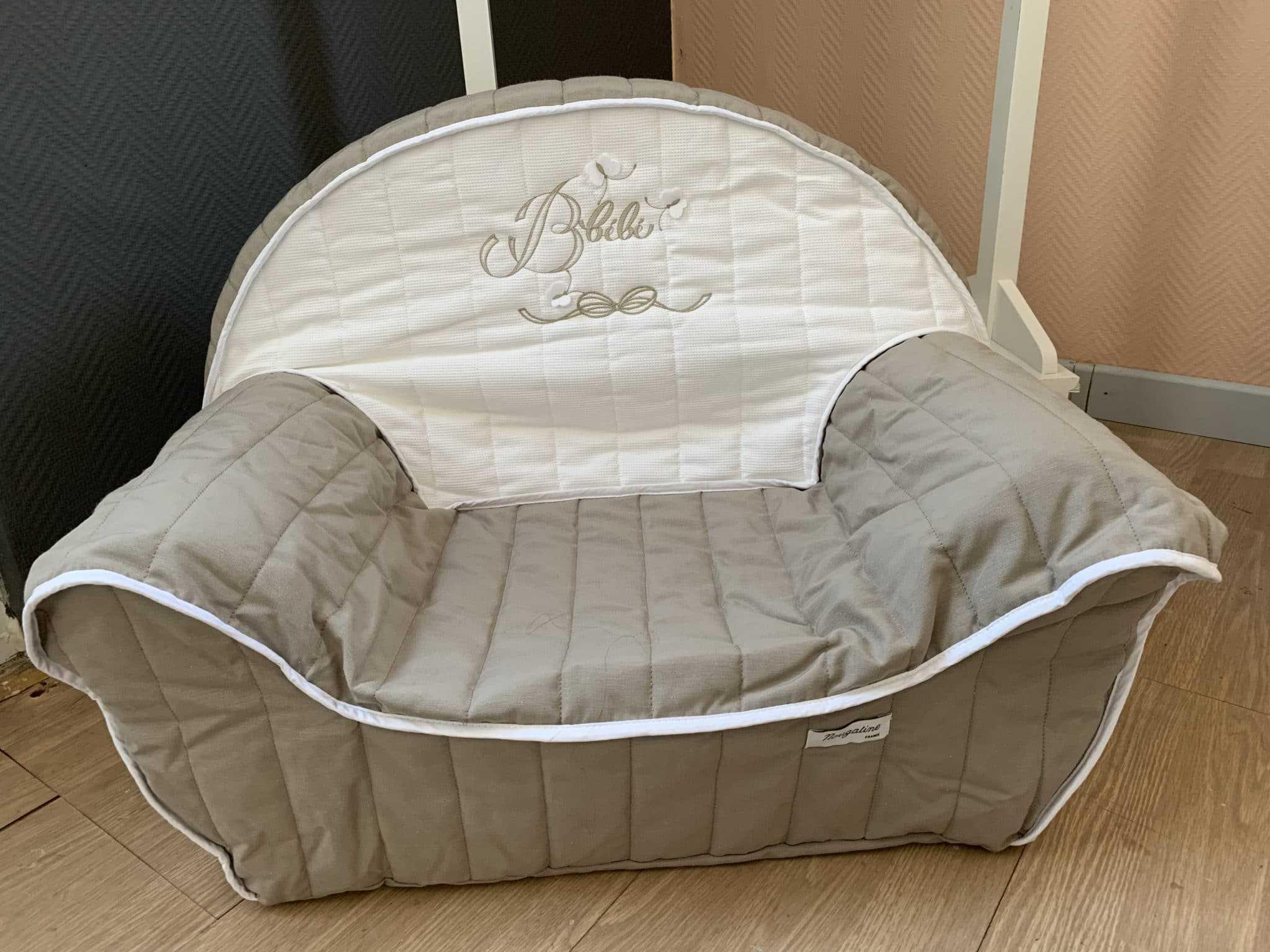 fauteuil bébé taupe