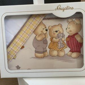 parure de berceau famille ours