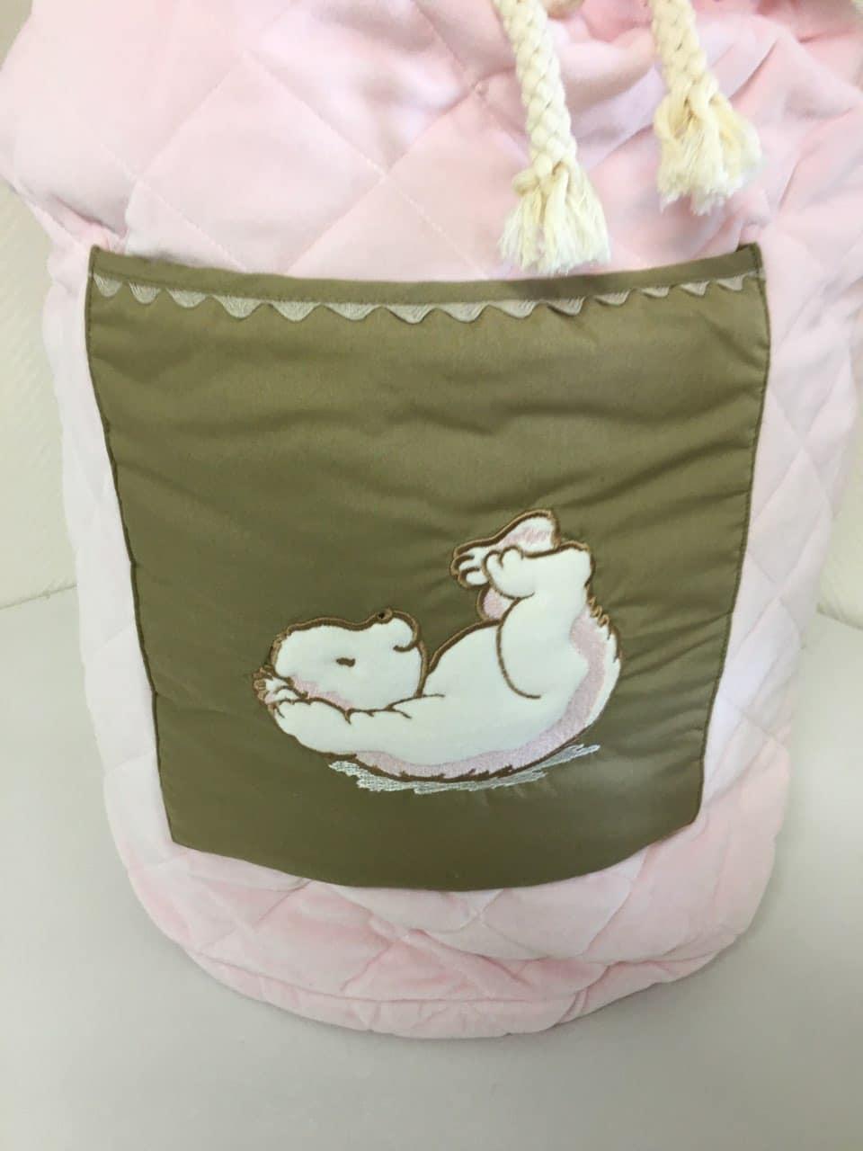 sac a jouet pompon rose