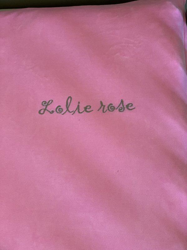 Edredon Ourson Lolie Rose 2