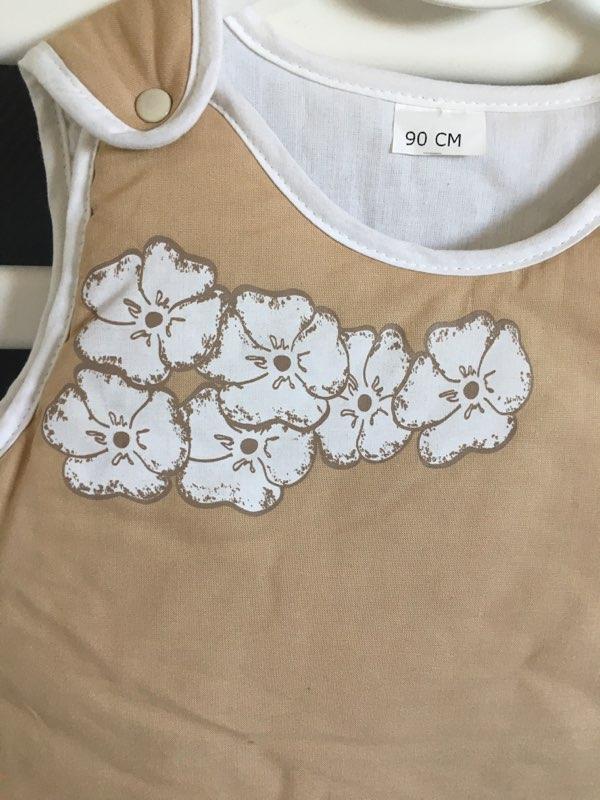 Gigoteuse 90 cm Fleur Blanche 2