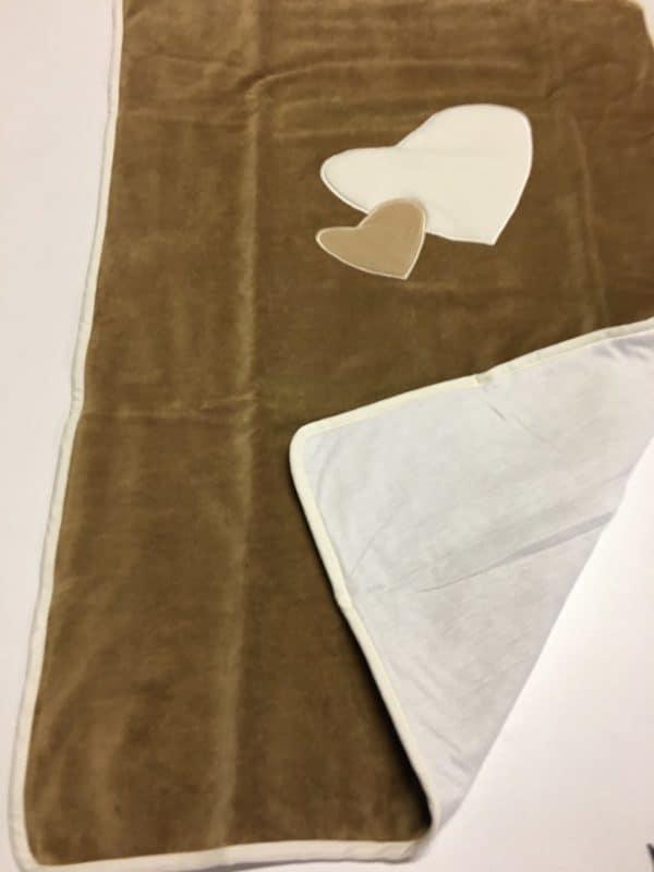 couverture de lit bb star marron