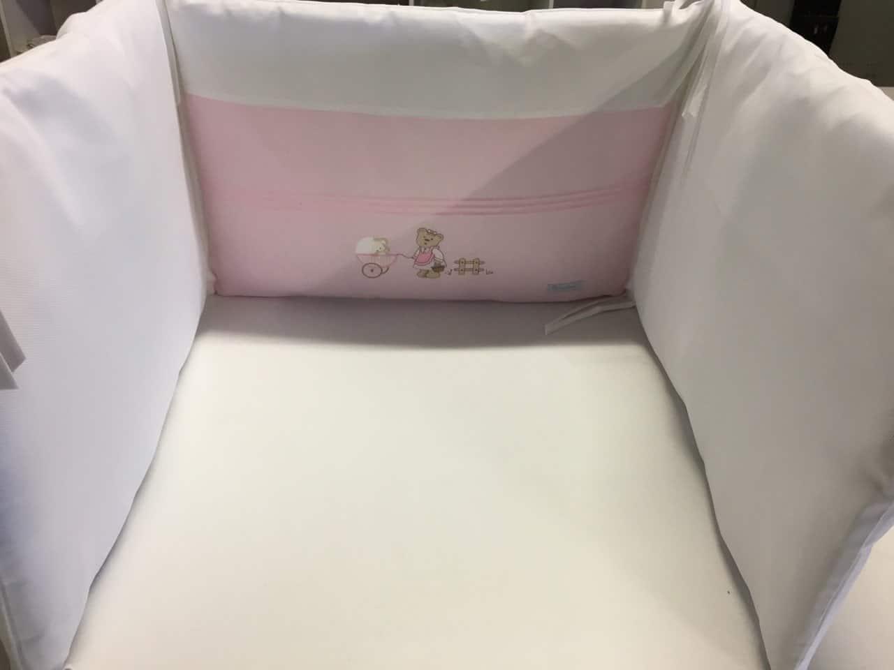 tour de lit ballade rose