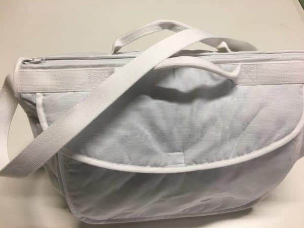 sac a langer rayé gris