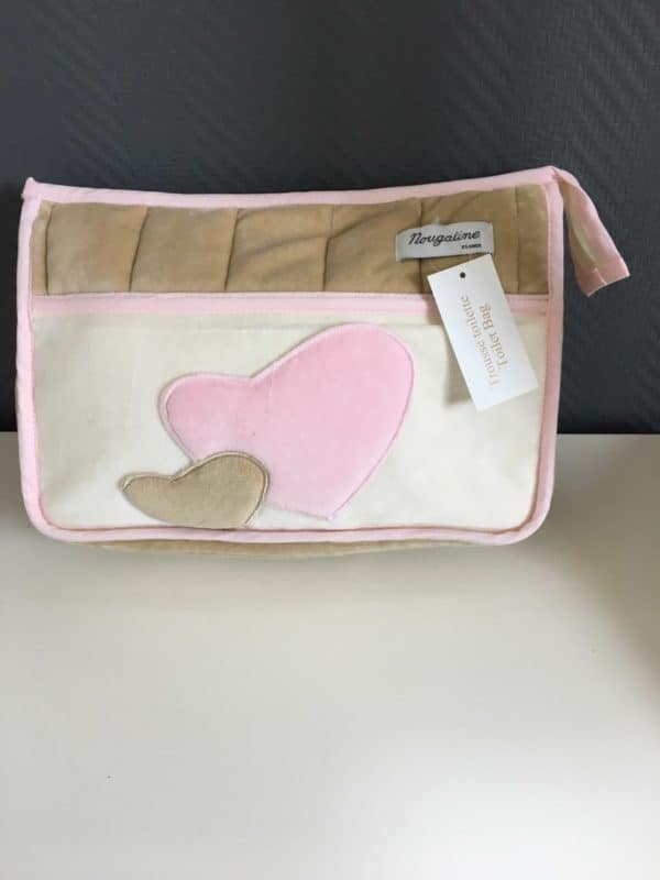 trousse de toilette bebe star rose