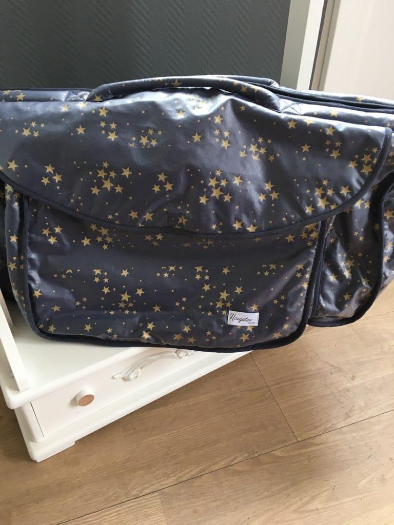 sac de voyage étoilé bleu