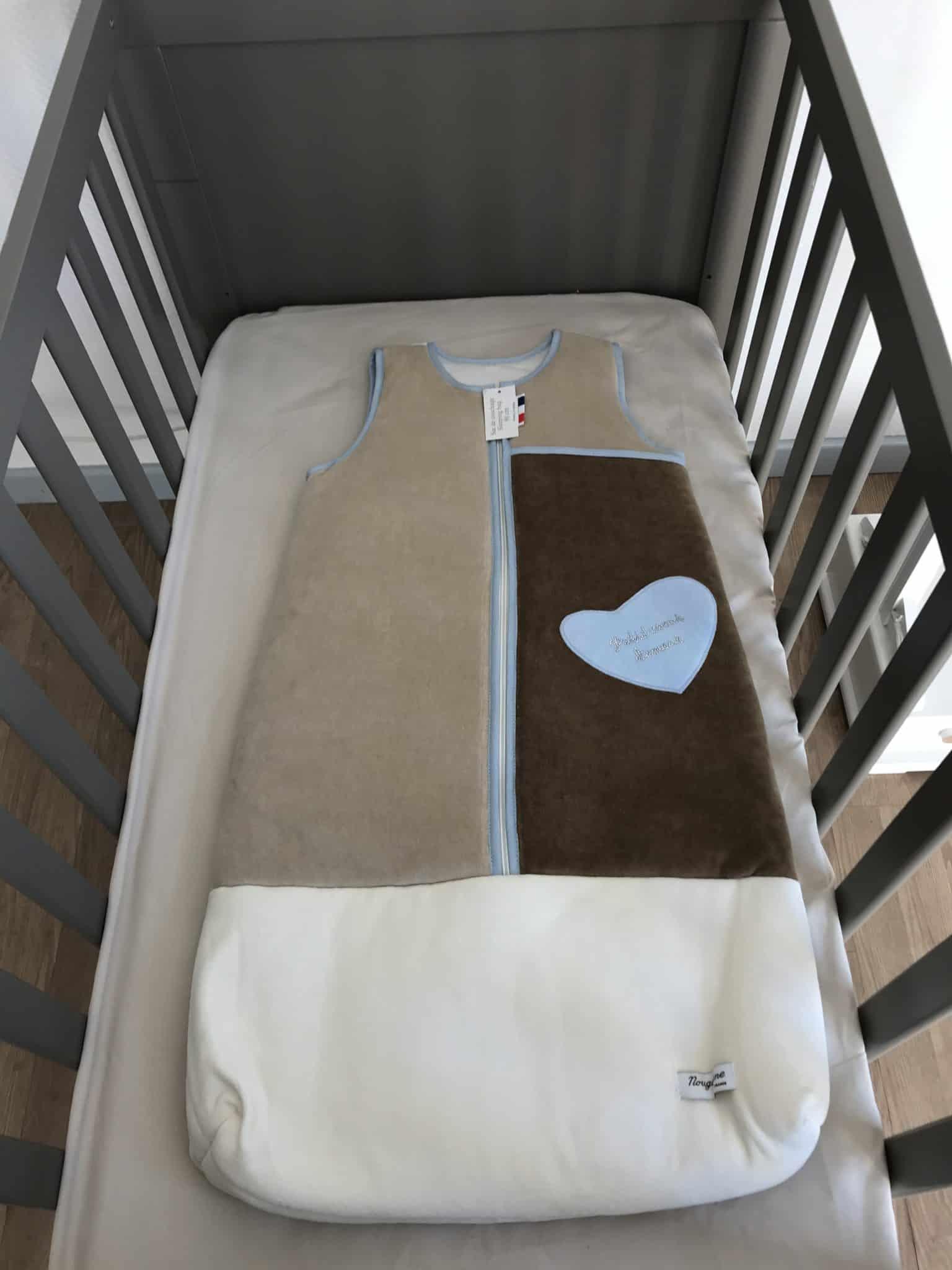 gigoteuse 90cm bebe star bleu