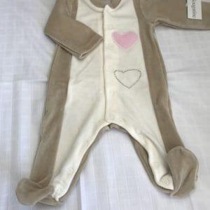 pyjama 3 mois coeur rose