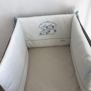tour de lit tal bleu